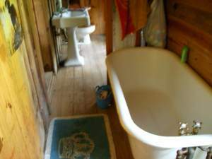 Haunted cabin bathroom