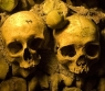 Skulls from the haunted catacombs of Paris