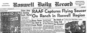 Roswell Daily Headline Flying Saucer